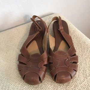 Naturalized comfort leather sandals 7.5